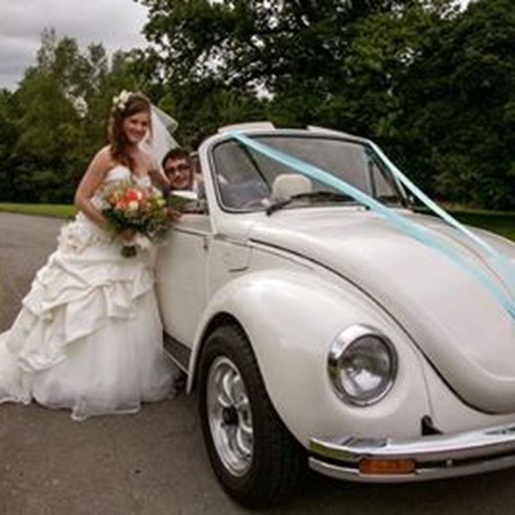 Ringo our Beetle will always be smiling in your Wedding photographs.