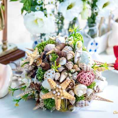 Marine alternative wedding bouquet