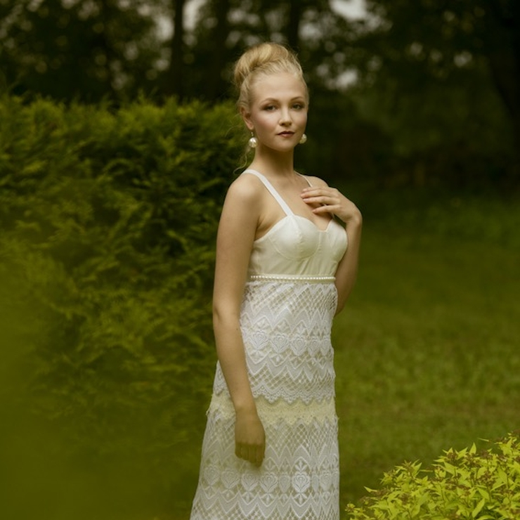 Boho feel one of a kind lace wedding dress