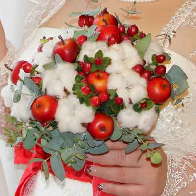 Fruit autumn alternative wedding bouquet
