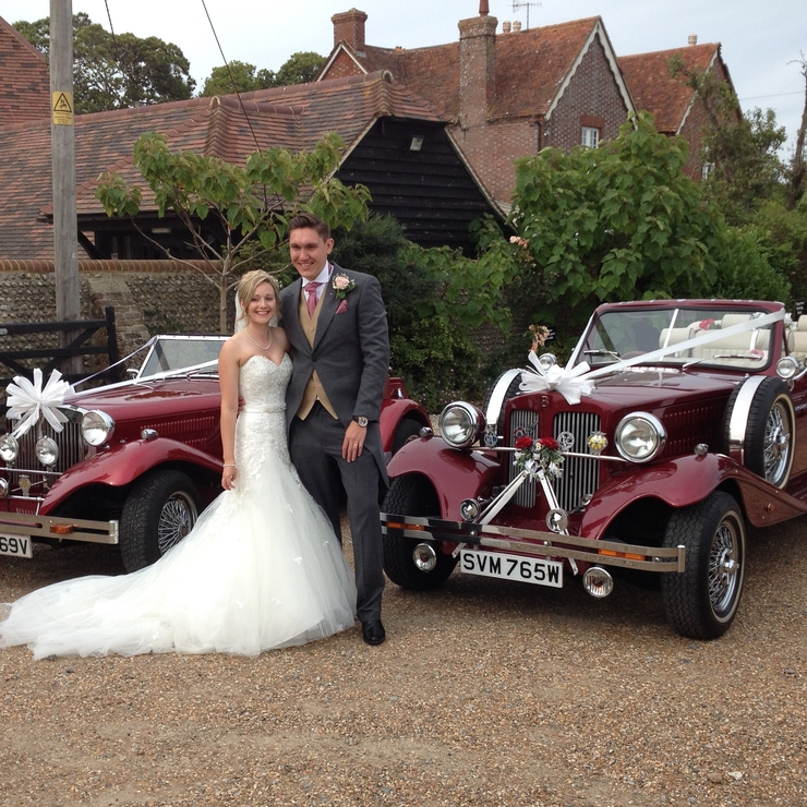 Both of our lovely cars, the Beauford and Falcon.