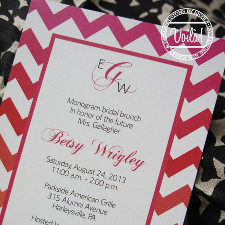 Chevron Bridal Shower Invitation Set