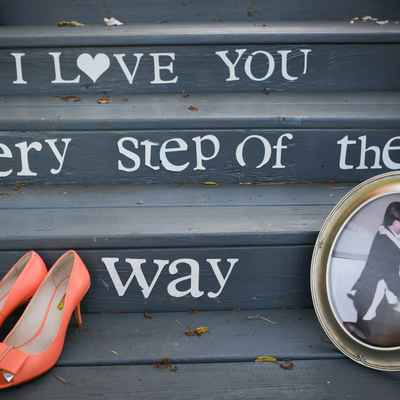 Outdoor orange wedding shoes