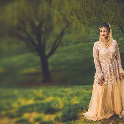 Ivory ethnical long wedding dresses