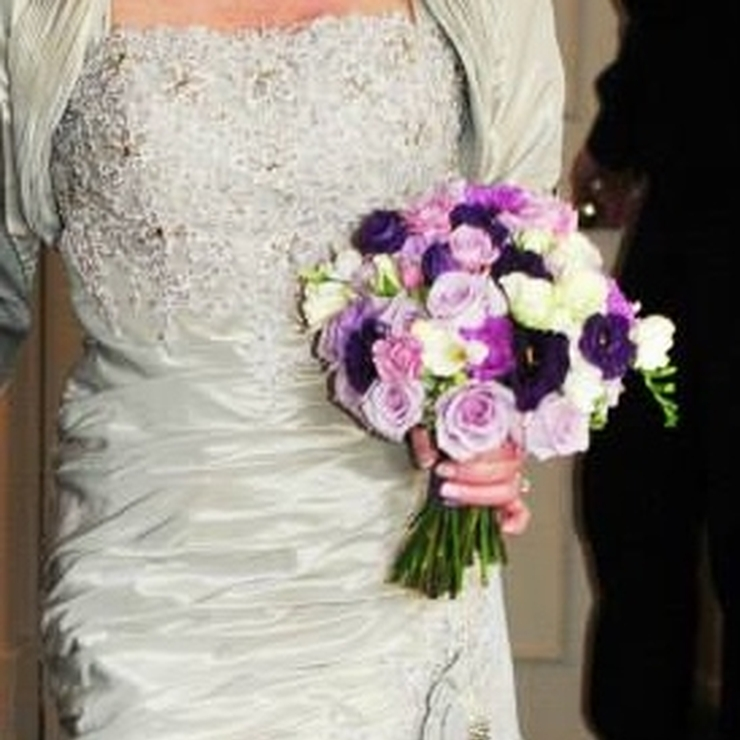 A  deep purple and lilac  themed wedding