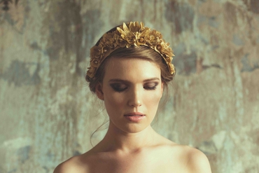 Gold wedding headpieces, veils, cover-ups & brooches