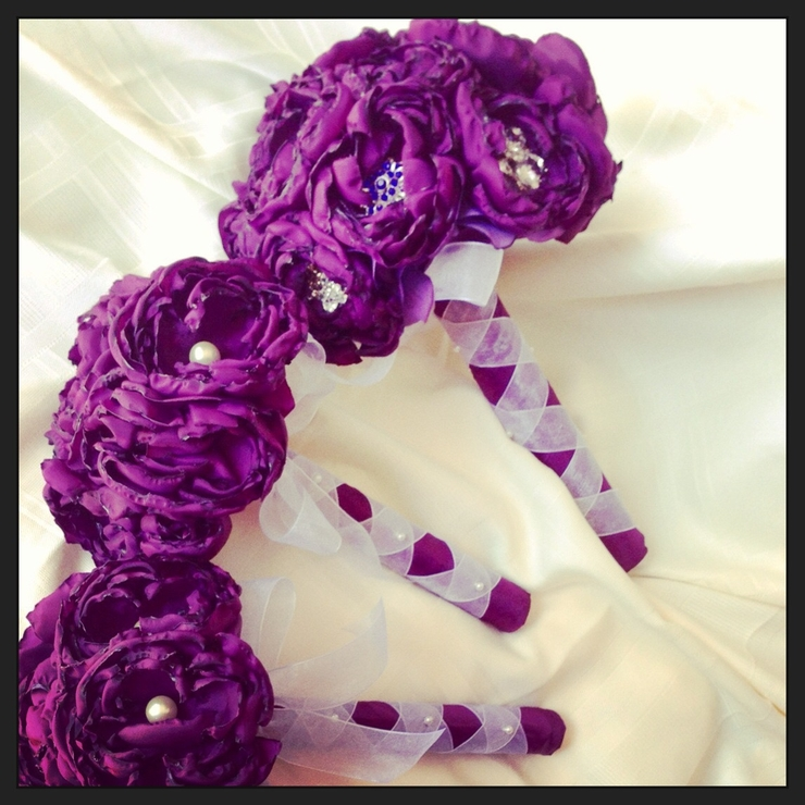 Handmade Fabric Peony Bouquets