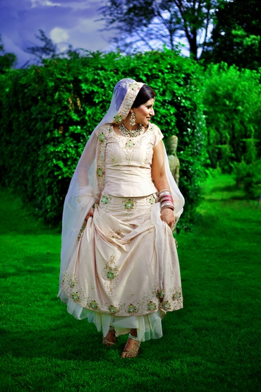 Ethnical closed wedding dresses