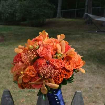 Orange alternative wedding bouquet
