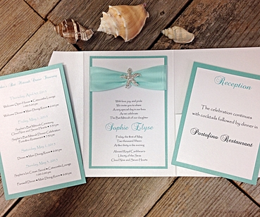 Overseas white wedding invitations