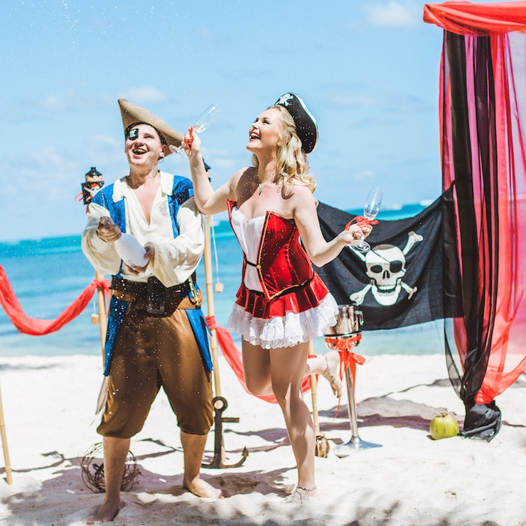 Pirate's Wedding at Dominican Republic