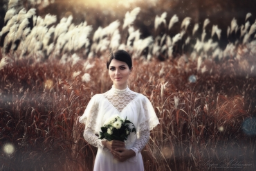 Vintage white long wedding dresses