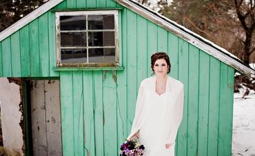 Winter long wedding dresses