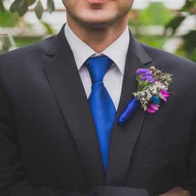 Blue buttonhole