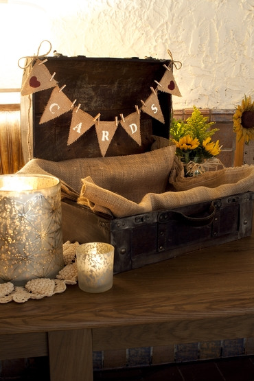 Rustic wedding reception decor