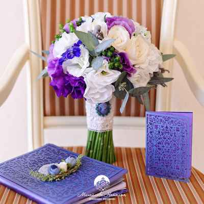 Purple friezes wedding bouquet
