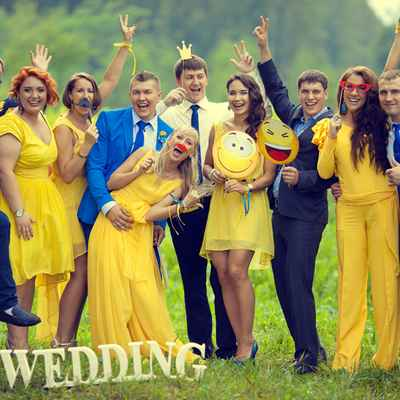 Summer yellow bridesmaids