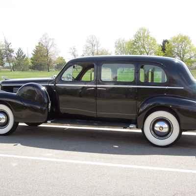 Vintage black wedding transport