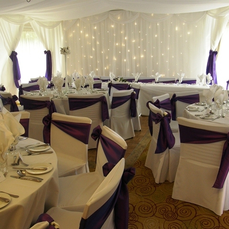 Courtyard Suite Wedding Breakfast, Full Drapes