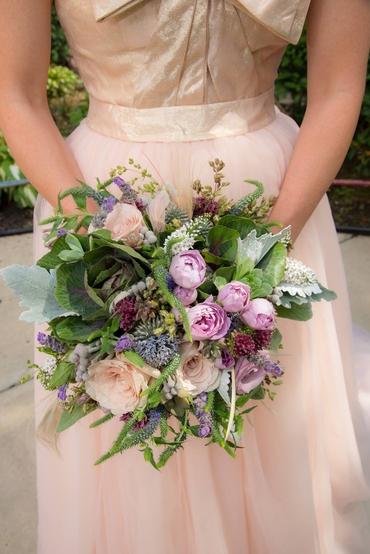 Green alternative wedding bouquet