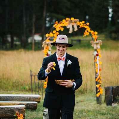 Themed black wedding photo session ideas