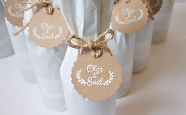 White wedding favours