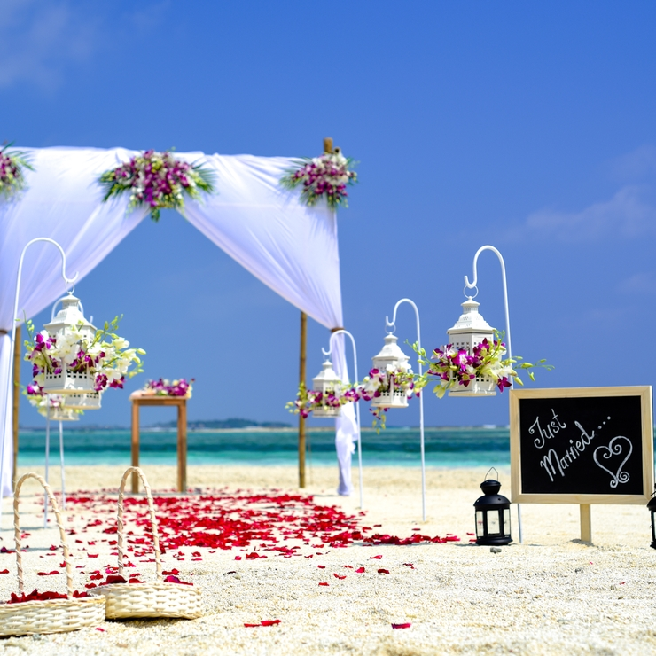 Ayu + Dima Destination Wedding Maldives beach