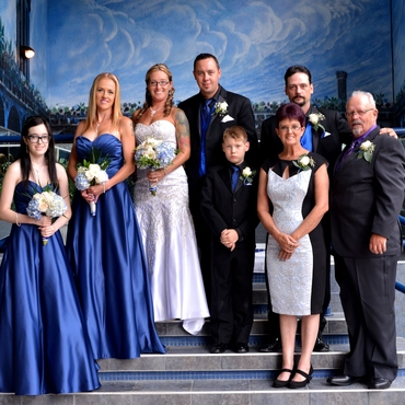 Blue wedding photo session ideas