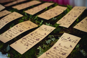 Green wedding signs