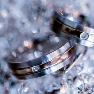 Grey wedding rings