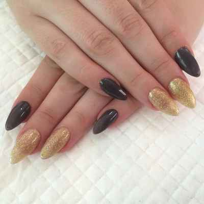 Black wedding nail design