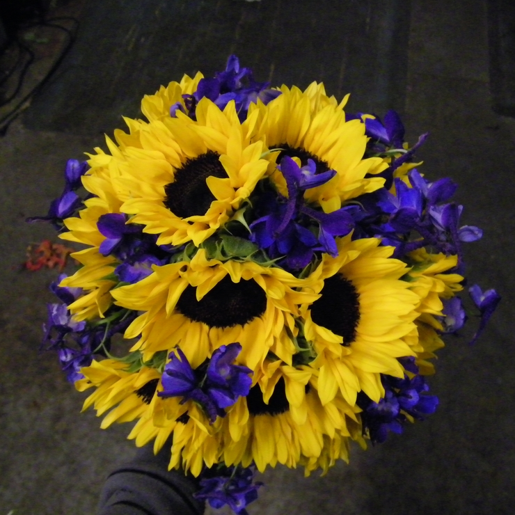 Sunflower and Delphinium Wedding