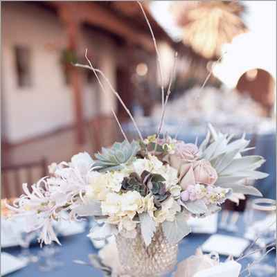 French grey wedding floral decor