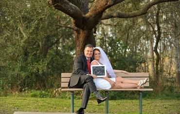 Outdoor white short wedding dresses