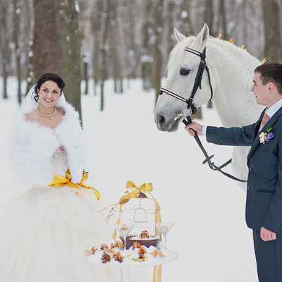 Winter gold real weddings