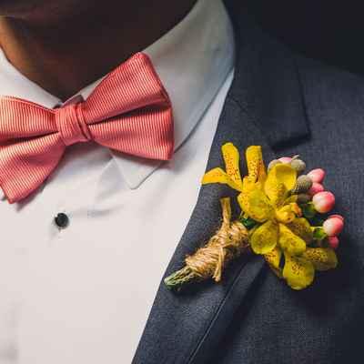Yellow wedding favours