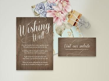 Brown wedding invitations