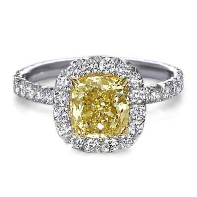Yellow wedding rings