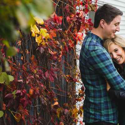Outdoor autumn wedding photo session ideas