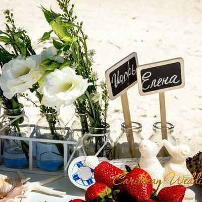 Overseas wedding photo session decor