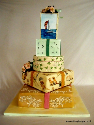 Marine wedding cakes