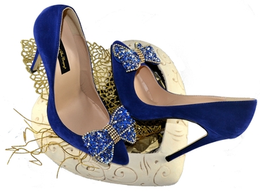 Themed blue wedding shoes
