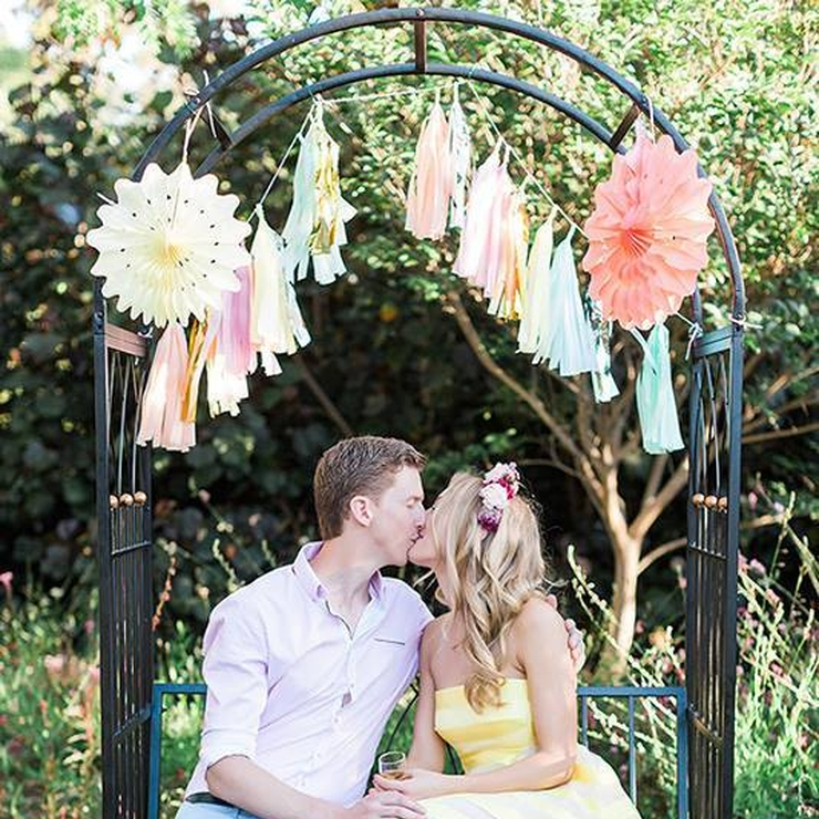 Ross & Selena's Garden Party Engagement - tassels, confetti balloons and decorations by Bickiboo, ph