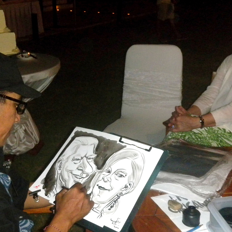 Live Caricature on the Wedding Event
