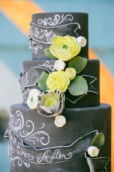 Yellow wedding cakes