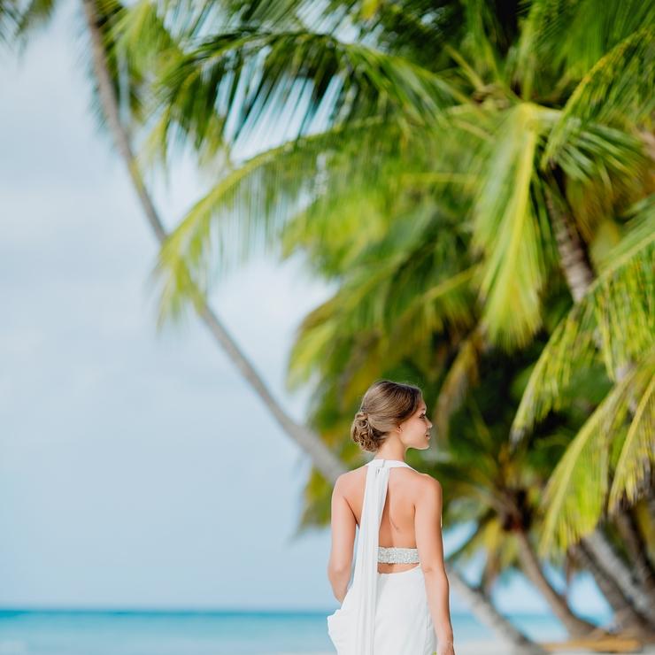 Wedding at Saona Island. Caribbean Sea