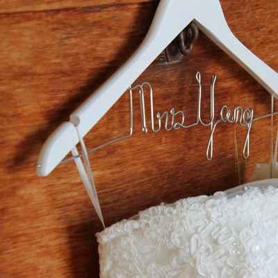 White wedding signs