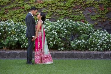 Ethnical pink long wedding dresses