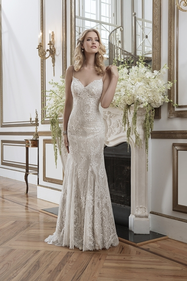 Ivory long wedding dresses