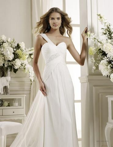 Mediterranean short sleeve wedding dresses